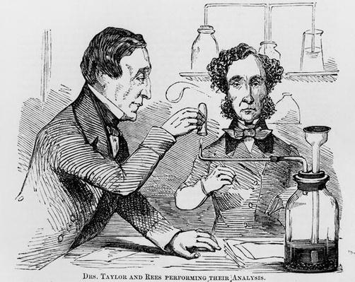 Drs. Taylor and Rees Performing their Analysis, 1856