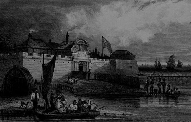 View of Tilbury Fort, engraved by H. Adhard