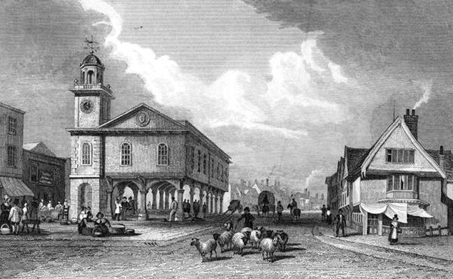 View of Faversham, Kent, 1832