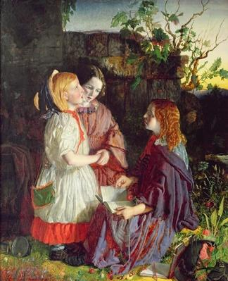 Three Young Girls in a Landscape, c.1860