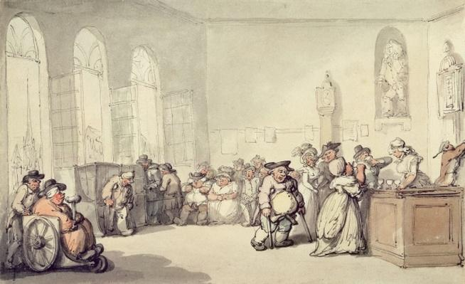 The Pump Room, from 'Scenes at Bath', c.1795