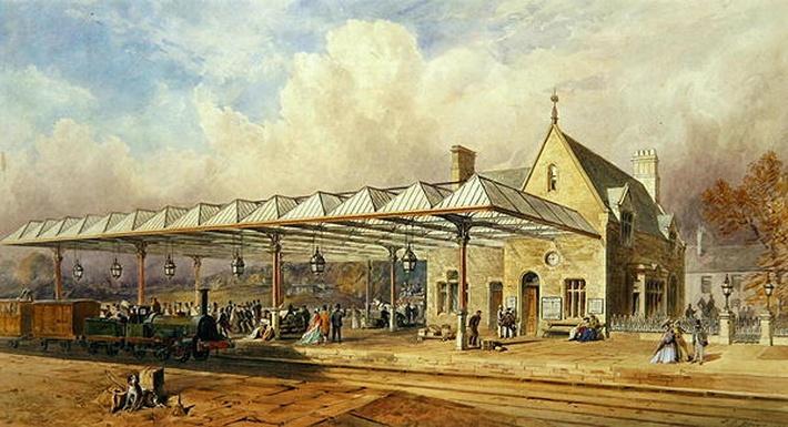 Railway Station, 1868