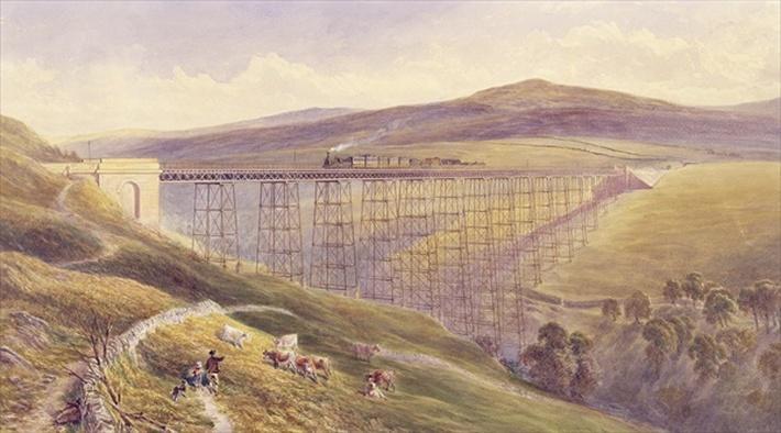 Belah Viaduct, 1869