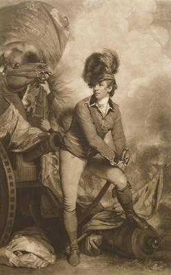 Lieutenant Colonel Banastre Tarleton, engraved by John Raphael Smith, 1782