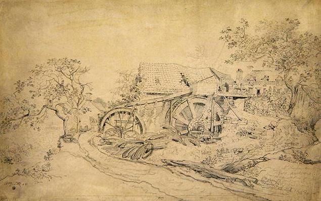 Mr Thompson's Wire Mill, Tintern, 1807