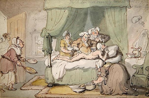 'The Doctor is so severely bruised that cupping is judged necessary', c.1810