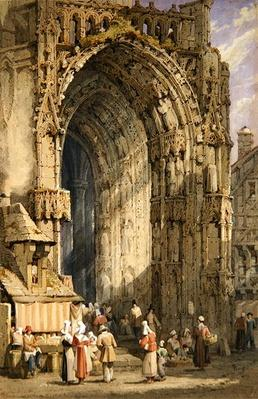 The Porch, Rheims Cathedral, c.1840