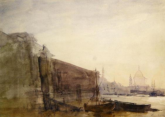 The Thames, Early Morning, Toward St. Paul's, c.1849