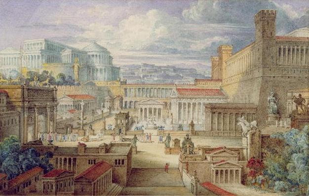 A Scene in Ancient Rome, A Setting for Titus Andronicus, Act I, scene 3, c.1830