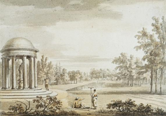The Rotunda and the Queen's Theatre, Stowe, 1753