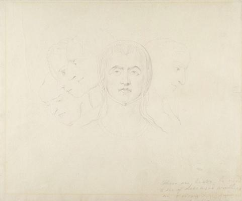 Five Visionary Heads of Women, c.1820