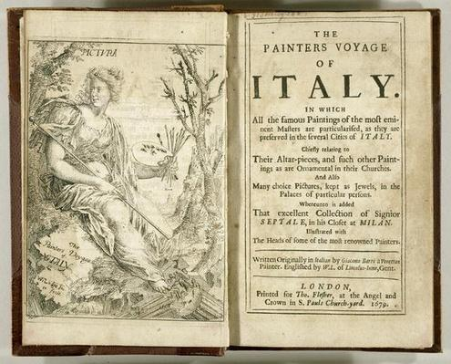 Titlepage from 'The Painter's Voyage of Italy...' by Giacomo Barri, 1679