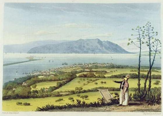 Kingston and Port Royal from Windsor Farm, from 'A Pictureseque Tour of the Island of Jamaica', engraved by Thomas Sutherland, 1825