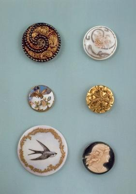 Collection of buttons, English, mid 19th century
