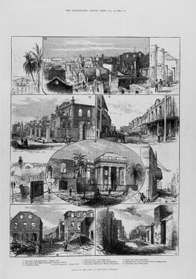 Ruins of the Fire at Kingston, Jamaica, from 'The Illustrated London News', 20th January 1883, 1842