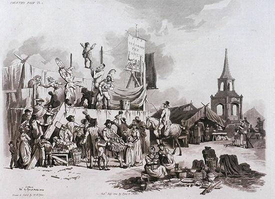 Country Fair, from 'Microcosm, Vol.II', engraved by J. Hill, c.1806