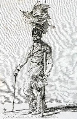 Joseph Johnson, from 'Etchings of Remarkable Beggars, Itinerant Traders and Other Persons...', 1815
