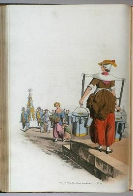 Milk Woman, from 'Costume of Britain', c.1819