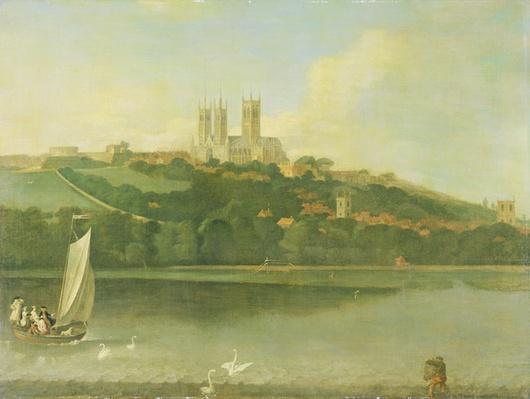 A View of the Cathedral and City of Lincoln from the River, c.1760