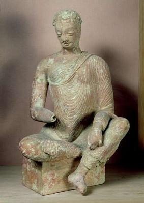 Buddha seated in meditation, from Fondukistan