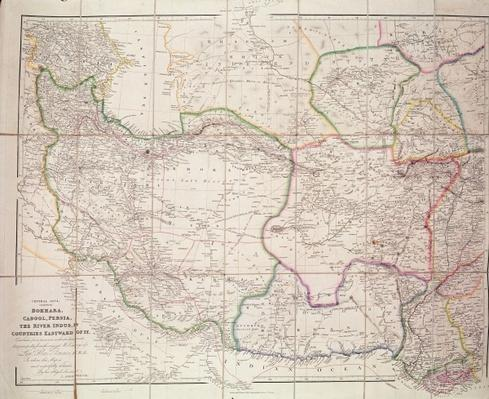 Map of Central Asia, 1834