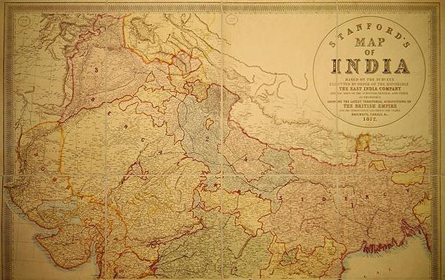 Stanford's Map of India, 1872