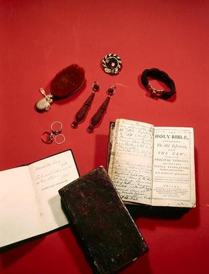 Personal objects belonging to Lady Byron
