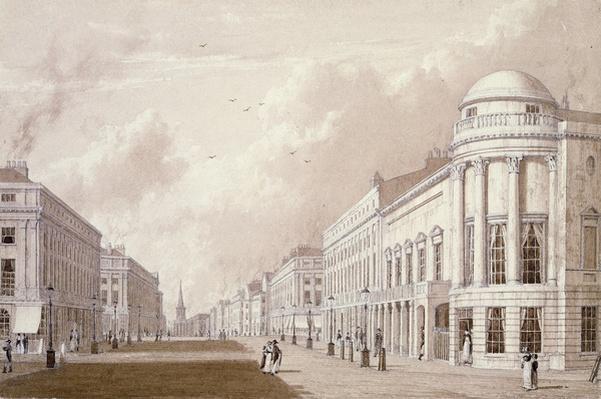 View of Regent Street, 1825