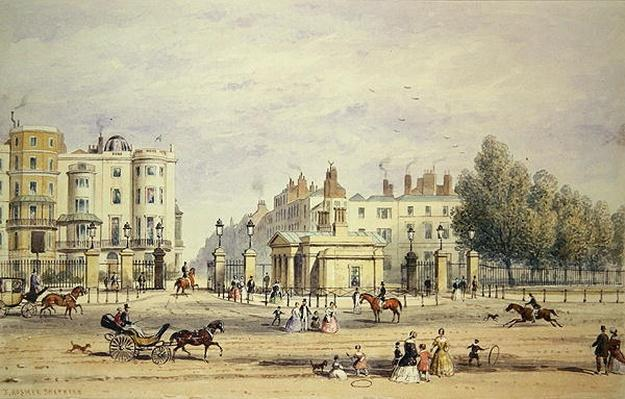Grosvenor Gate and the New Lodge, 1851