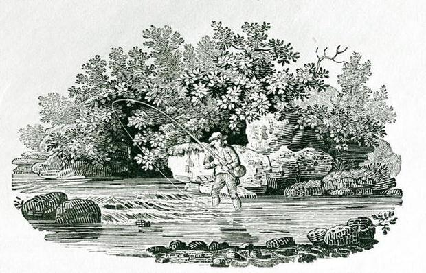 An Angler in a River Pool, from 'British Birds', 1804