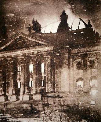 The burning of the Reichstag building, 27th February 1933