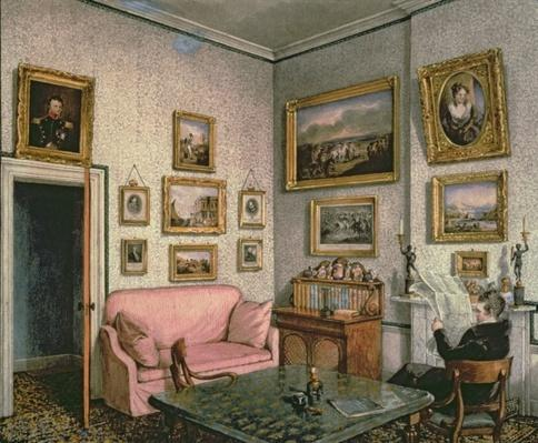 Col. Norcliffe's study at Langton Hall, c.1837
