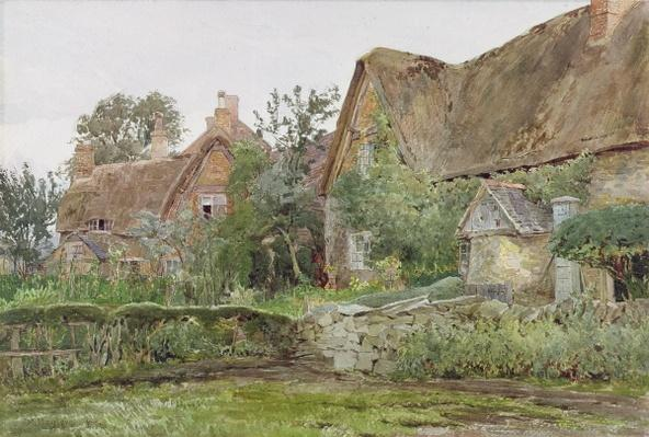 Thatched Cottages and Cottage Gardens, 1881