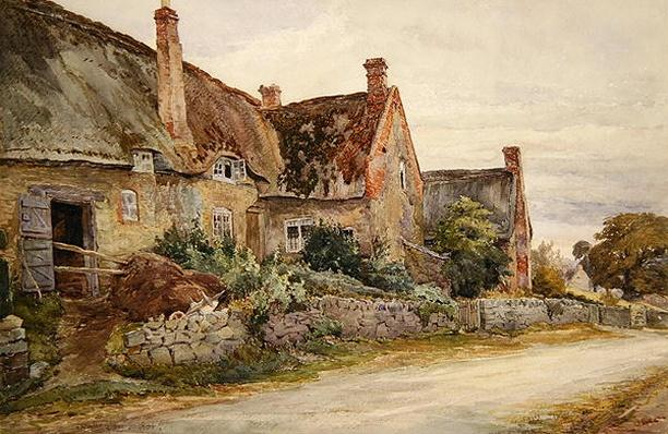 Thatched Cottage with Barn Adjoining, 1881