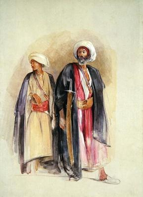 Sheik Hussein of Gebel Tor and His Son, c.1842-43