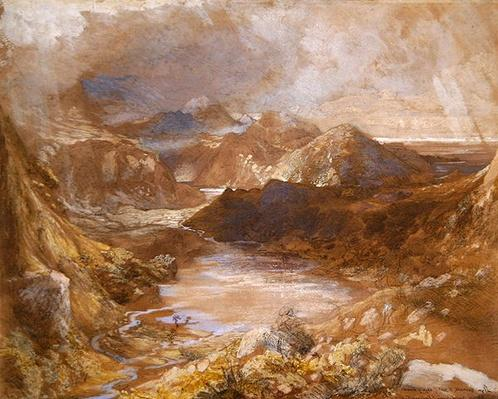 Llwyngwynedd and part of Llyn-y-ddina Between Capel Curig and Beddegelert, North Wales, 1835-36