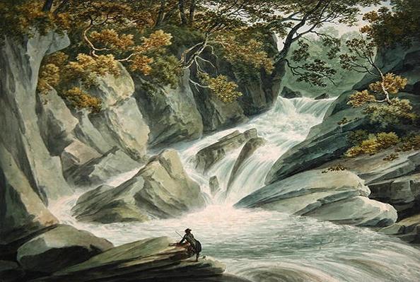 Hafod: Upper Part of the Cascade, 1793