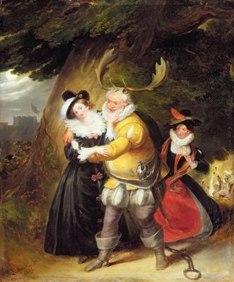"Falstaff at Herne's oak from ""The Merry Wives of Windsor"", Act V, Scene V, 1832"