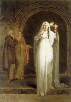 The Sleepwalking Scene, Act V, Scene I, from 'Macbeth', by William Shakespeare
