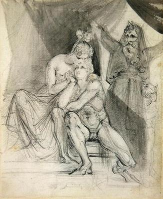 Prospero Watching Ferdinand and Miranda, c.1840