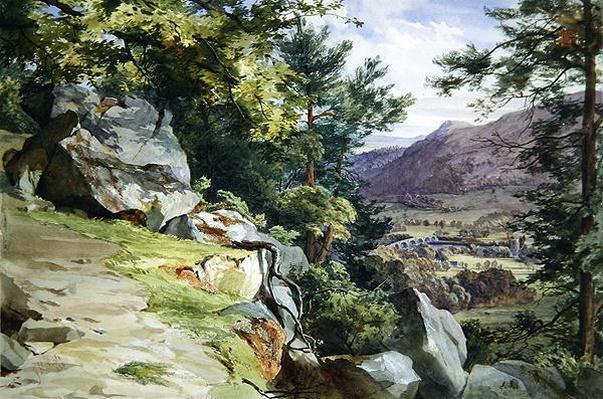 View of Craig-y-Barns, Dunkeld, Looking South, 1855