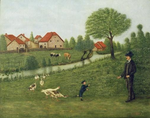 Child with Geese