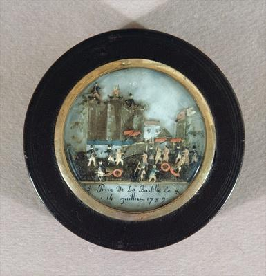 Button depicting the Storming of the Bastille, late 18th century