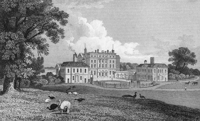 View of Chevening Place, engraved by S. Lacy, 1830