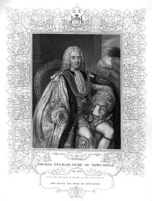 Portrait of Thomas Pelham-Holles, 1st Duke of Newcastle