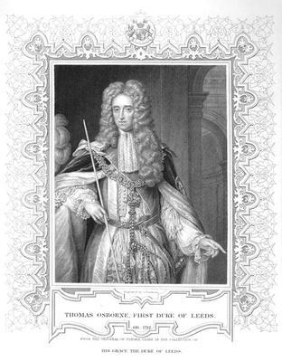 Portrait of Thomas Osborne, engraving