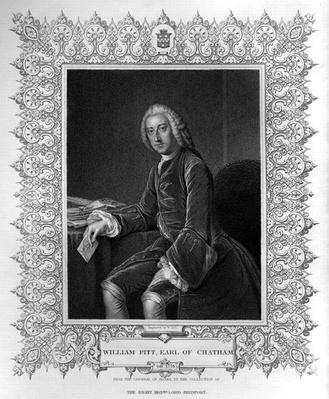 Portrait of William Pitt, 1st Earl of Chatham, engraved by William Holl the Younger