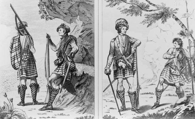 Scottish Soldiers of the Highlands and An Highland Officer and Serjeant