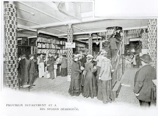 Harrods Provision Department, c.1901