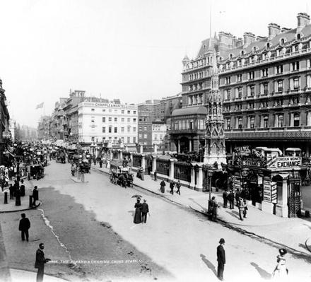 The Strand and Charing Cross Station, London, c.1890